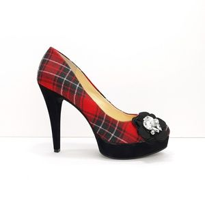 Gianni Bini Plaid Platform Pumps
